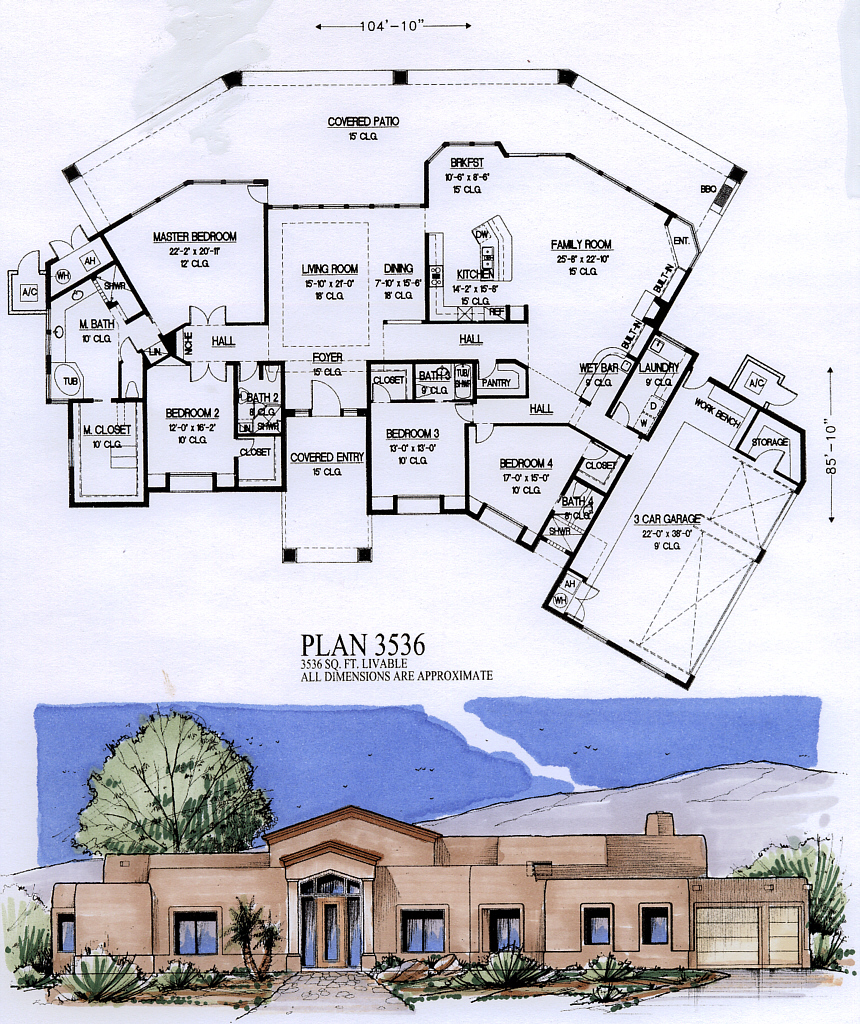 3500 to 4000 square feet for 4000 square foot house plans