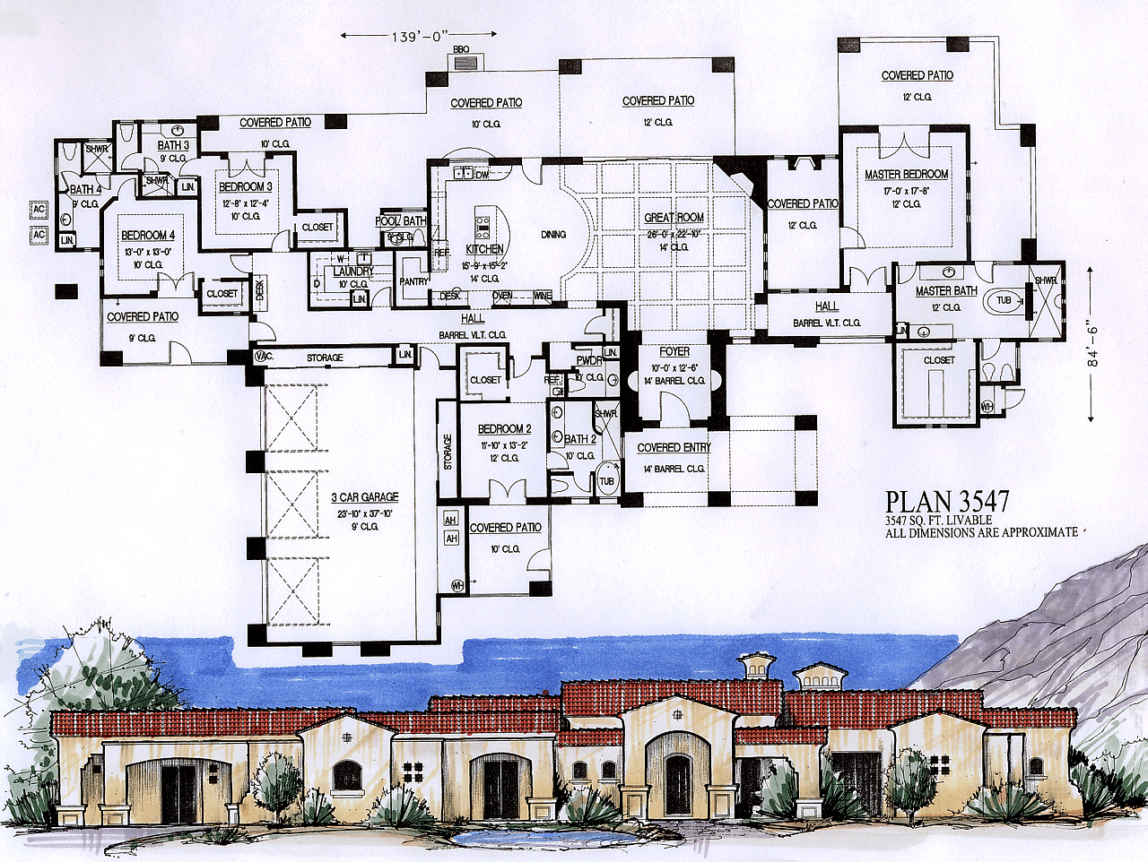 3500 to 4000 square feet for House plans 4000 to 5000 square feet