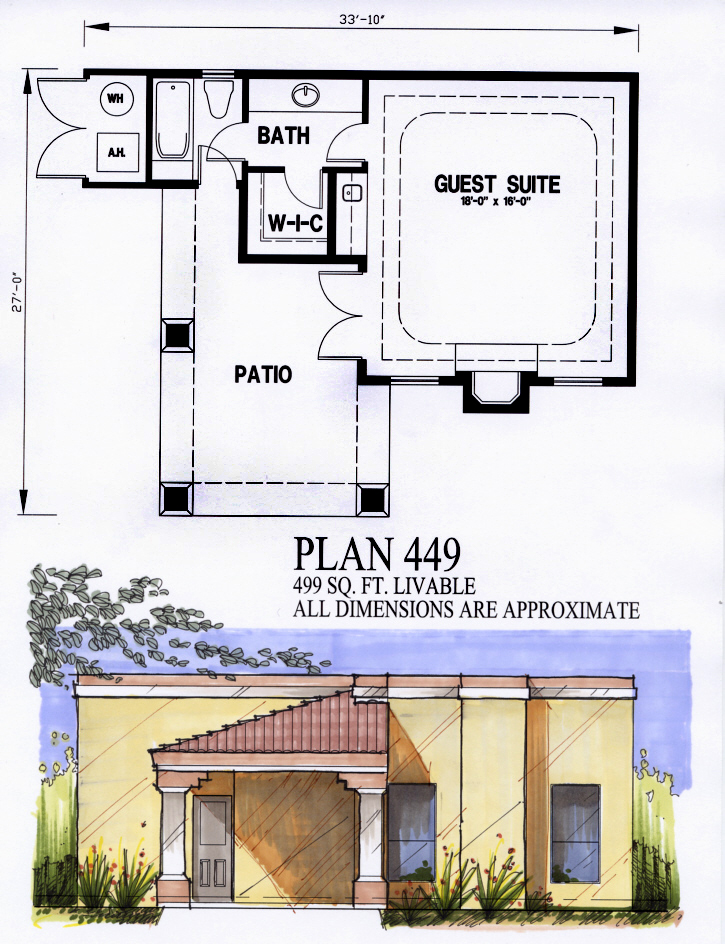 Garage plan with guest house house plans home designs for Garage guest house floor plans